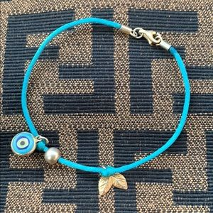Anthropologie Evil Eye Charm Dainty Bracelet